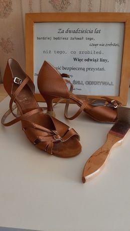 Artis buty do tańca rozmiar 38 dł 24,9 cm opalone wiązane +szczoteczka