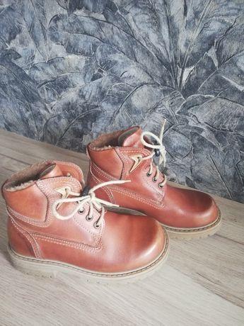 Buty skórzane zimowe 33 21 cm