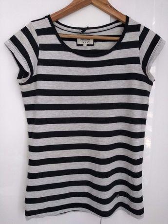 T-shirt w paski czarno-szare House koszulka bluzka
