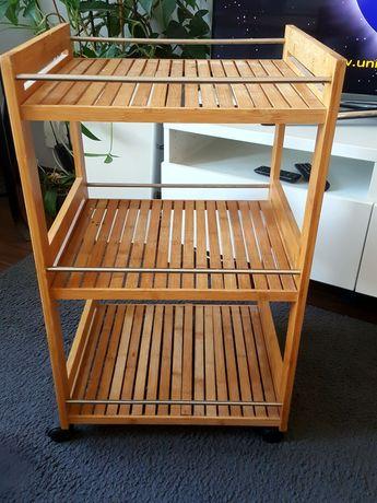 Wózek kuchenny bambusowy z 3 poziomami, 46 x 38 x 76 cm, Zeller