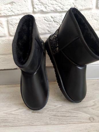 Ugg / Угги жіночі зимові колір чорний.Жіноче взуття для зими
