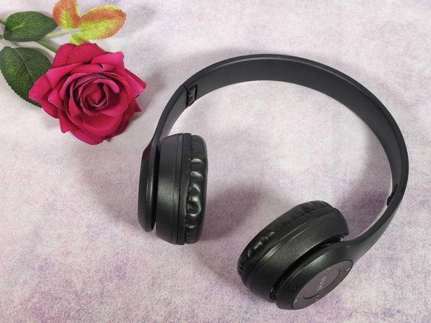 Беспроводные наушники Wireless P47 белые Bluetooth, MP3 и FM радио