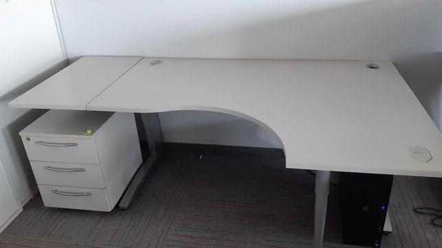 biurko narożne kontenerek zestaw