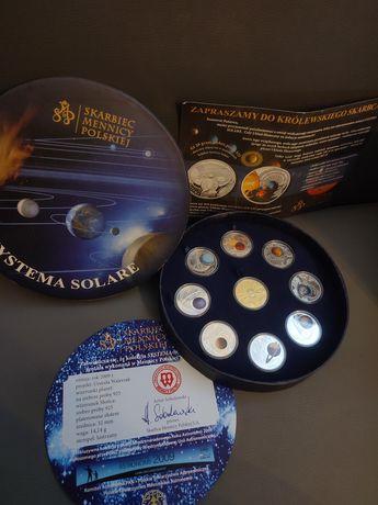 Zestaw Systema Solare srebro 925 numizmaty monety