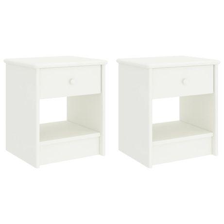 vidaXL Mesas de cabeceira 2 pcs 35x30x40cm madeira pinho maciça branco 322228