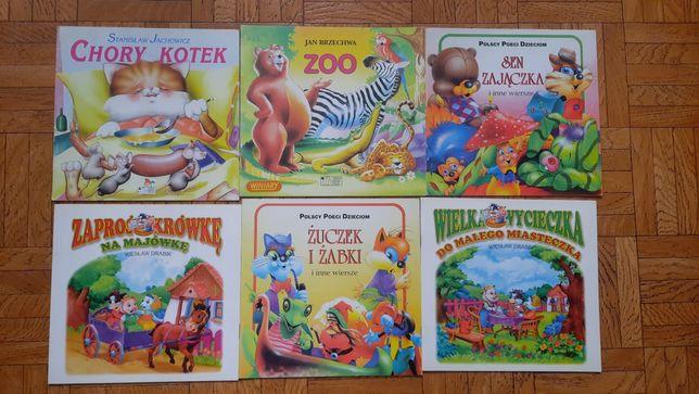 Książeczki dla dzieci, komplet 6 szt.