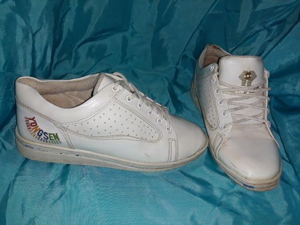 Кеды, кроссовки белые, 35 размер, стелька 22,5см