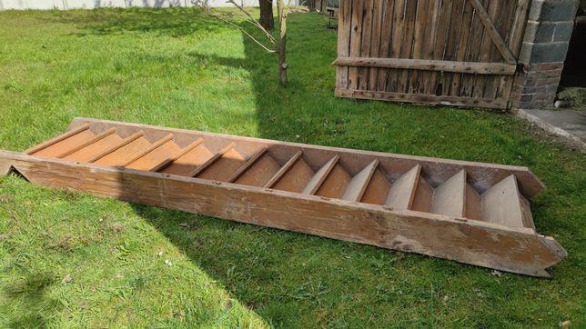 Stare drewniane schody 13 stopni