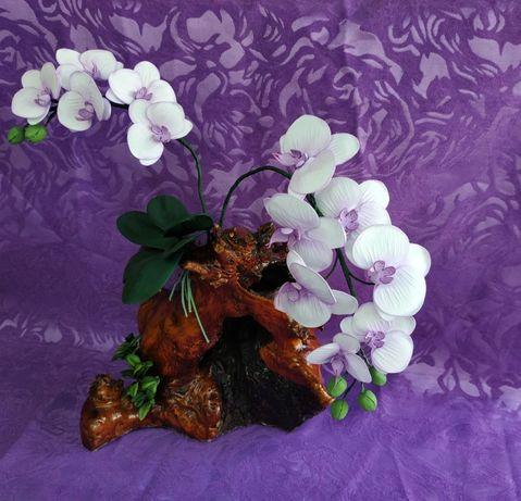 Искусственная орхидея декор