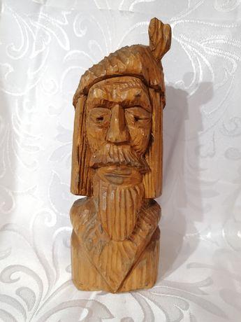Ciekawa ręcznie wykonana drewniana figurka polecam