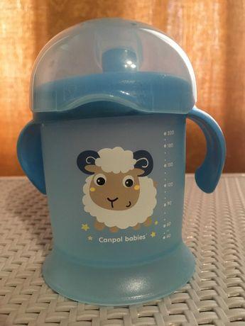 Кружка-непроливайка Canpol Babies (поильник)+ подарок бутылка для воды