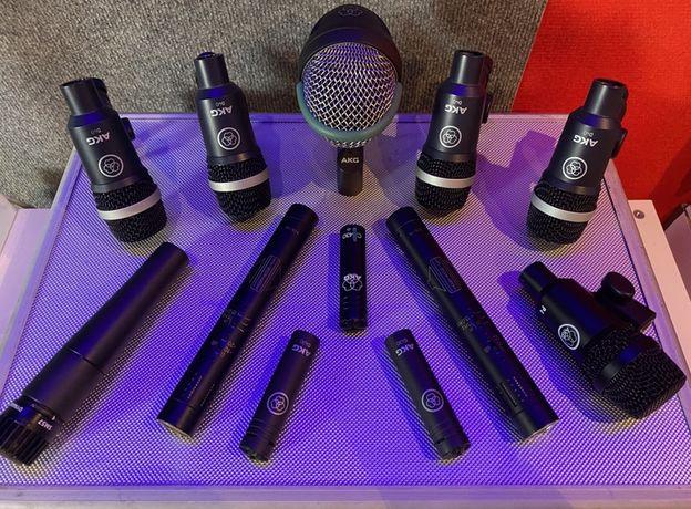 Microfones de bateria