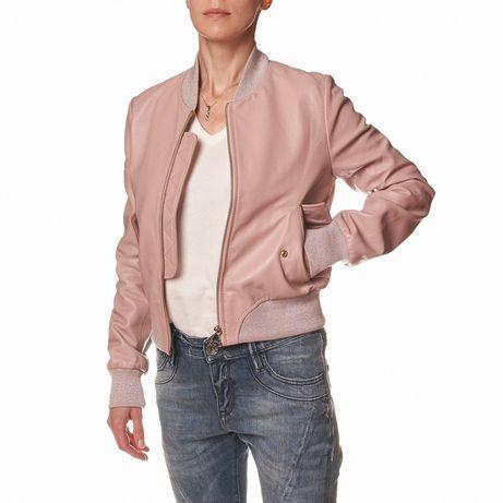 Шкіряна куртка trussardi jeans