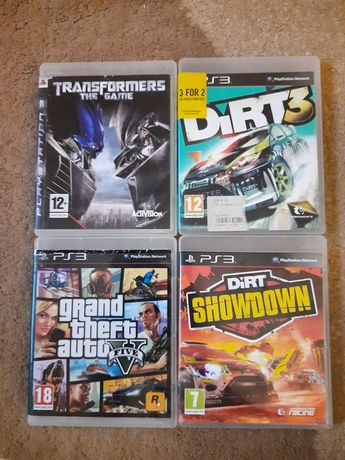 Gry Play station ps3 gta dirt transformers