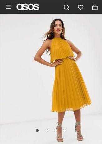 Sukienka Asos miodowa