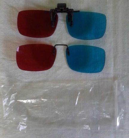 Okulary do obrazów 3D (anglyph, czerwony+niebieski)