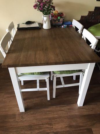 Lite drewno dębowe jadalnia stół styl prowansalski