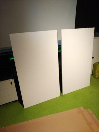 Blaty biurowe 140x80 kolor biały.