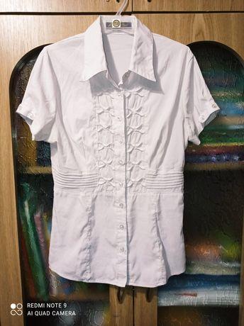 Недорого красивая белая блузка 7-10лет