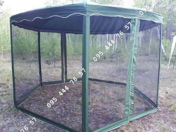 Шатер шестигранный основа ткань, павильон 3.6м х 3.6м беседка,альтанка