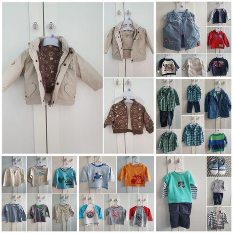 Zestaw ubrań dla chłopca 68 kurtka 3w1 Zara c&a kamizelka ponad 30szt