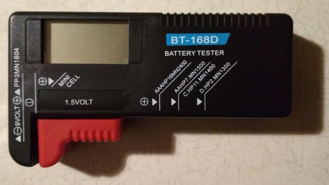 BT-168D цифровой тестер батарей 9V (крона) и 1,5 V (AA, AAA, C, D)