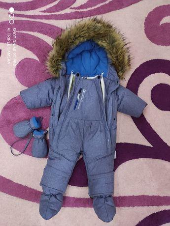 Детский теплый пуховик трансформер