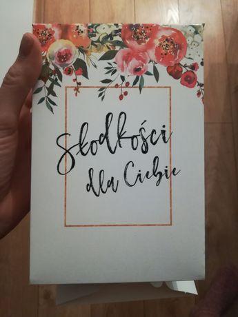 Pudełko na ciasto dla gości wesele, ślub, 50 szt słodkie podziekowanie