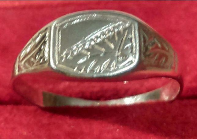 Stary pierścionek ze srebra 925 z dostawą