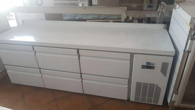 Bancada Refrigerada Industrial 6 Gavetas NOVA