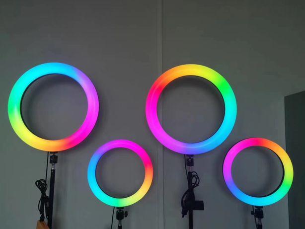Кольцевая лампа 26,33 RGB |Разноцветная кольцевая лампа |Штатив 2.1