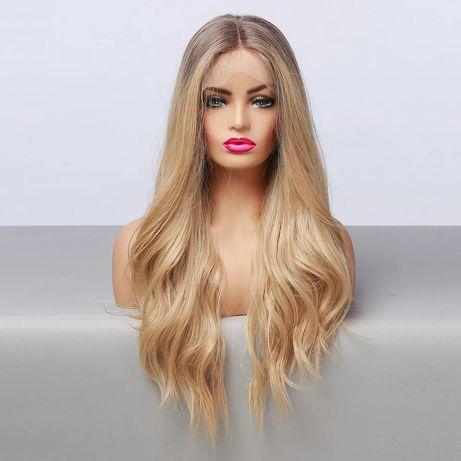 Peruka lace front blond jak naturalne