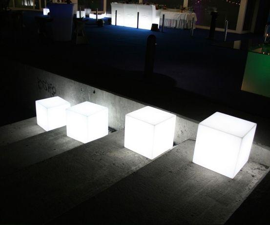 Cubo luminoso cores