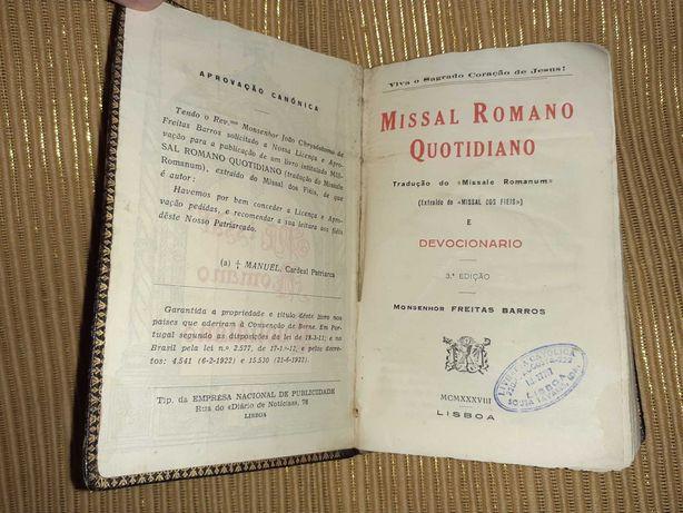 Missal  Romano Quotidiano Monsenhor Freitas Barros 3a Edição
