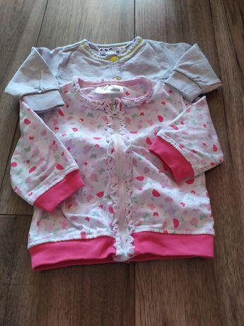 Bluzy dla dziewczynki 2 sztuki r. 68