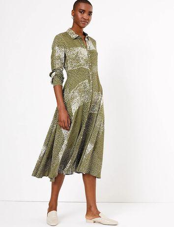 Платье - рубашка, платье с натуральной ткани, длинное платье