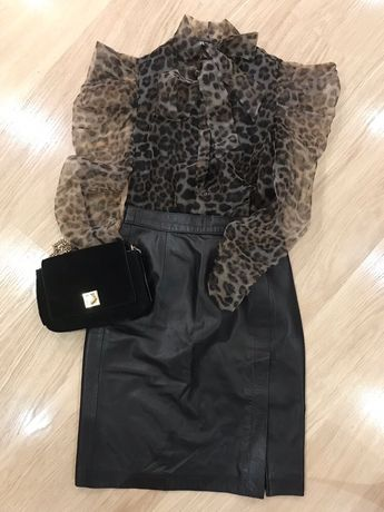 Юбка кожа) юбка миди) юбка типа Zara