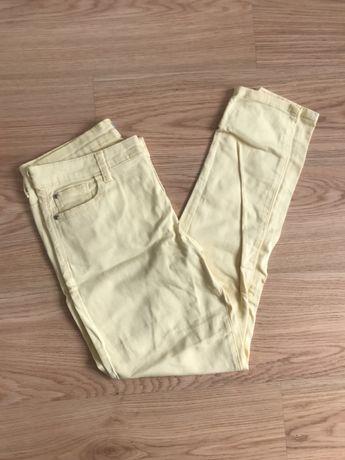 jeans amarelas skinny