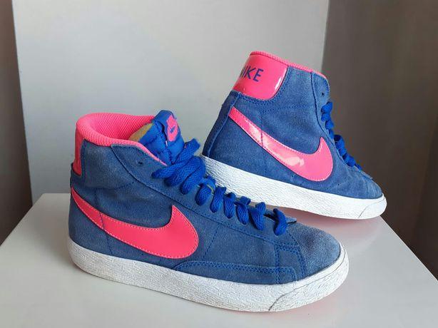 Niebieskie Nike Blazer Mid za kostkę 35,5 UK 3