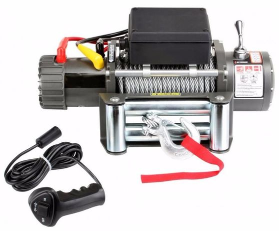 Guincho eléctrico para veiculo 12V 2722 Kg 24 mt de cabo