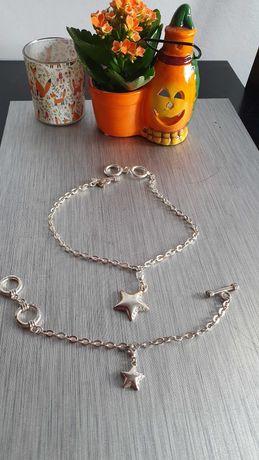 Komplet Avon srebrny gwiazdka bransoletka naszyjnik