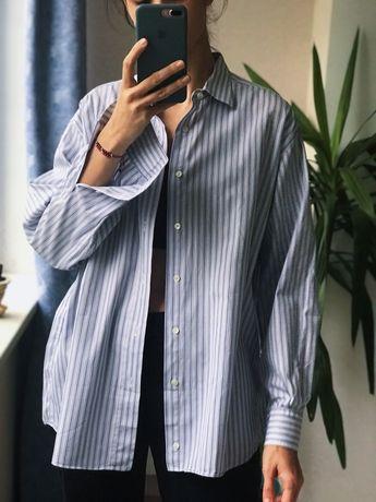 Хлопковая рубашка в полоску lanvin
