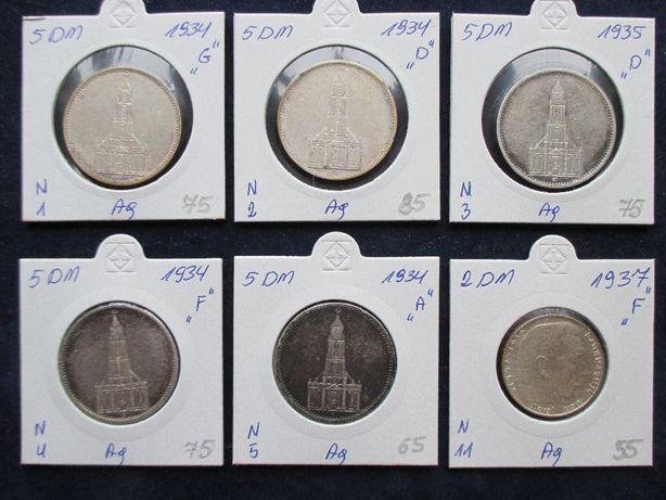 Zestaw srebrnych monet .Oryginały !!! 40.