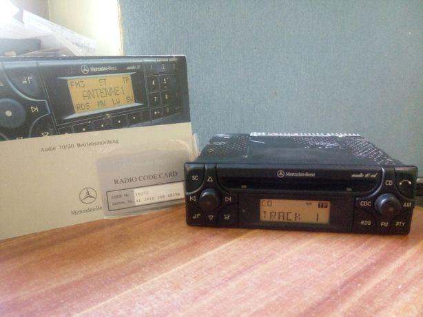 Radio Mercedes Audio 10 cd w124 190 w201 + książka + karta !!