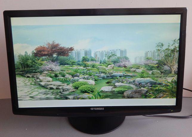 "Монітор б.у Hyundai P246WNP 24"" 16: 9 / LED /1920x1080 FULL HD/VGA/DVI"