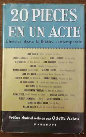 20 piece en un acte, odette aslan, théatre contemporain