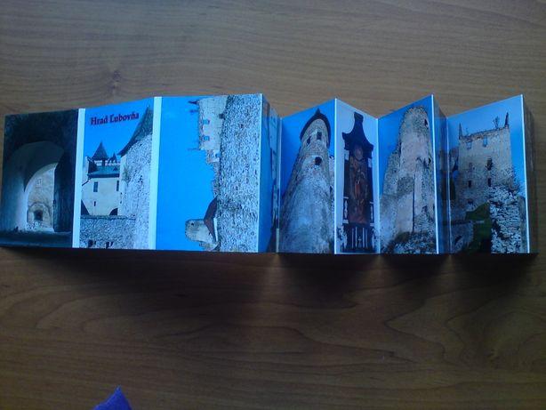 Mini pocztówki w harmonijce Hrad L'ubovńa