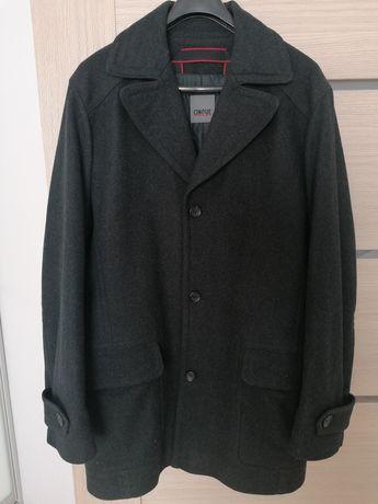 Ciepły płaszcz męski wełna naa podszewce XL
