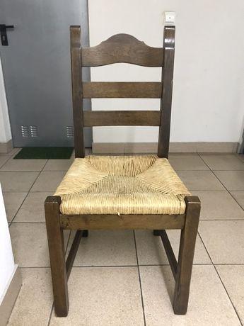 4 Cadeiras em madeira e palhinha