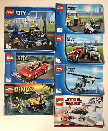 Livros instruções Lego Star Wars, City, Dino